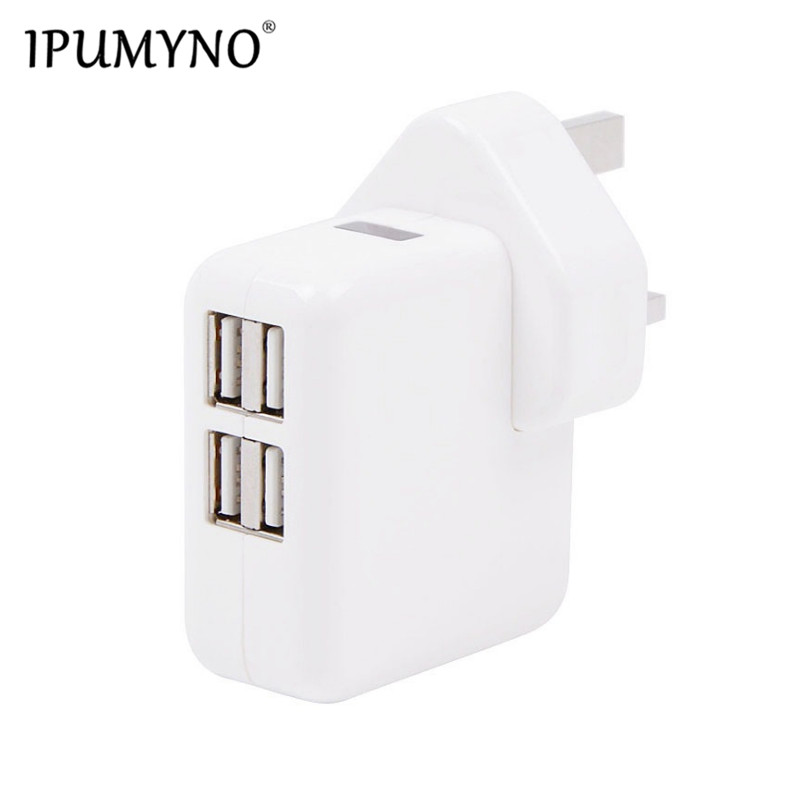 3-port Usb Uk Plug Portable Charger Universal Phone Tablet Pc Charging Head Travel Charger Adapter White High Quality J25 Cellphones & Telecommunications Mobile Phone Chargers