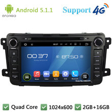 Quad Core 8″ 1024*600 2Din Android 5.1.1 Car DVD Video Player Radio Stereo FM DAB+ 3G/4G WIFI GPS Map For Mazda CX-9 2012-2015