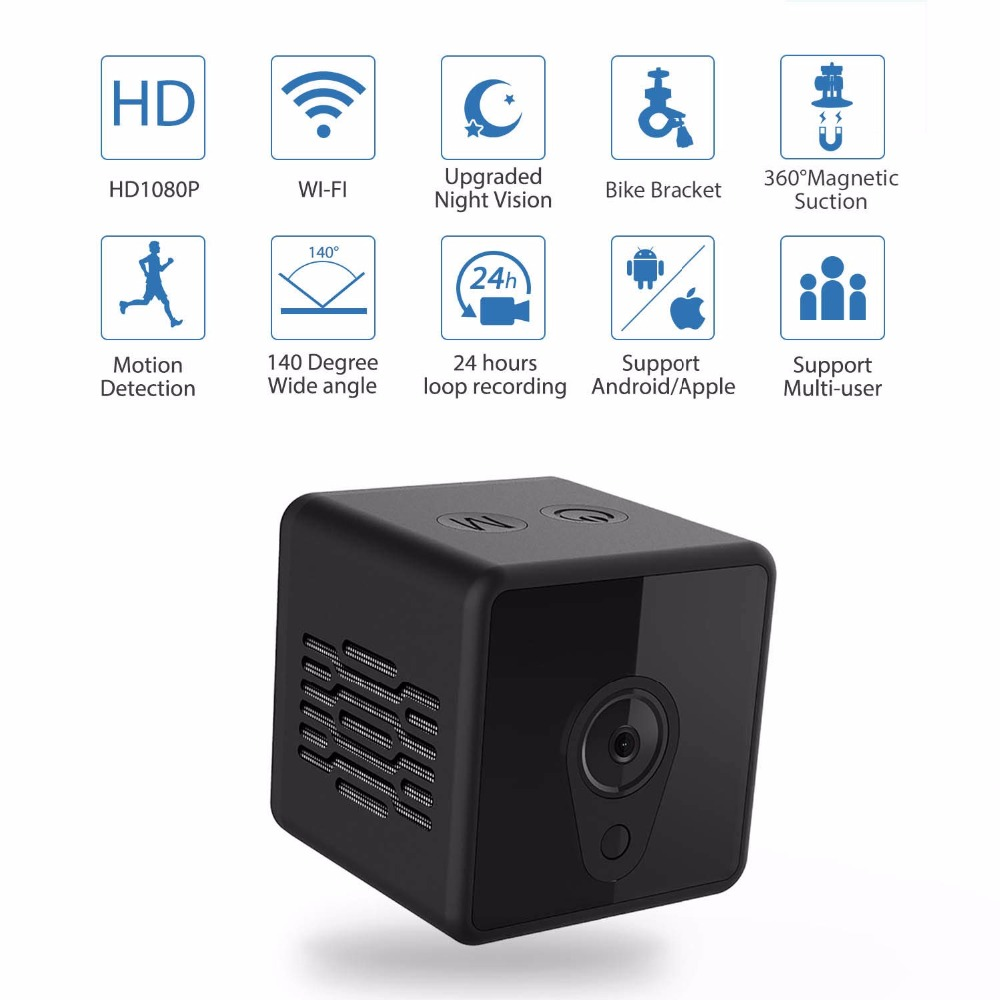 Mini Camera WiFi 1080P Invisible Night Vision and Motion Detection Security Nanny micro Cam for Home/Office Support hidden card image