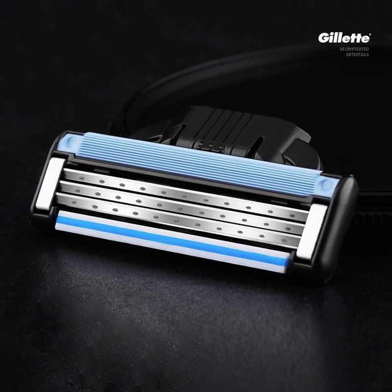 本ジレットマッハ 3 シェービングカミソリの刃男性ブランドブレードで剃る 8 ブレード
