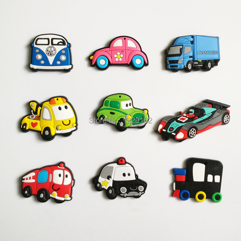 Free Shipping (9pcs/set) Fashion Car refrigerator magnet whiteboard magnets cartoon fridge magnets