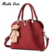 Manka Vesa women leather handbags famous brands women bags purse messenger bags shoulder bag high quality handbag pouch