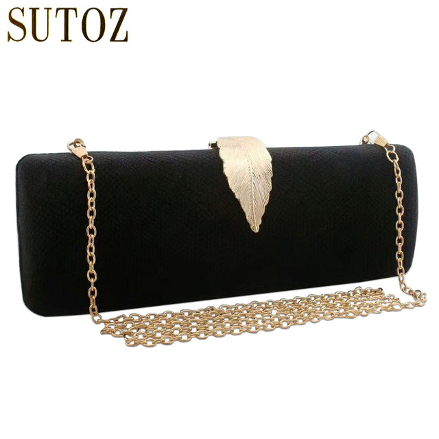Vintage Evening Bag Cases Gold Leaf Luxury Design Serpentine Pu Leather Handbags Las Day Clutches