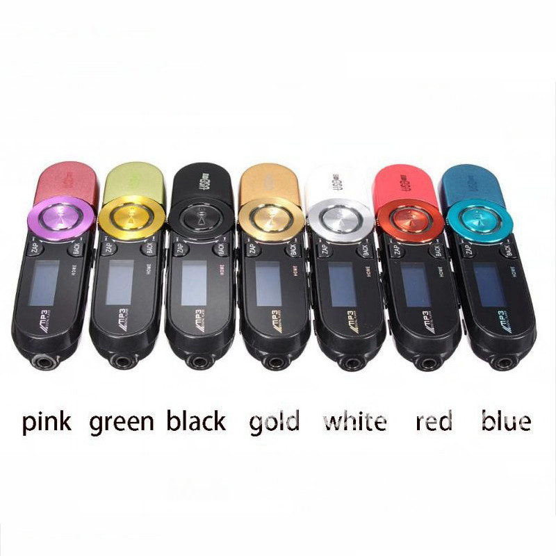 Mini Rechargeable MP3 Player with Flash Memory LCD Screen Portable MP3 Player FM Radio with earphone