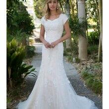 cecelle Vestido De Noiva Wedding Dresses 2019 Cap Sleeves