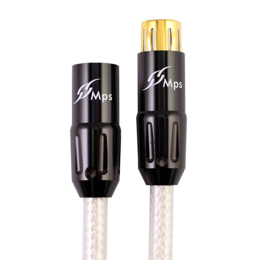 MPS M 8XLR HiFi 99 9997 OFC Silver Plated 24K Gold Plated 3Pin XLR connector balance