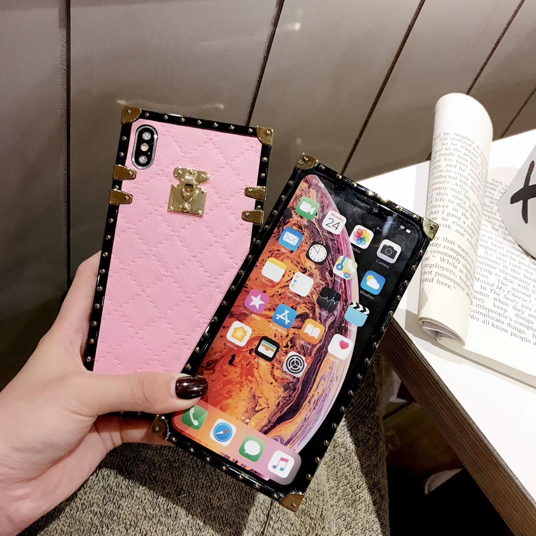 HTB19SwLX5frK1RjSspbq6A4pFXaA Soft Lambskin PU Leather Cases For iPhone 11 Pro X XR XS Max 8 7 Plus Square Plaid Cover For Samsung Galaxy S9 S10 Plus Note 10