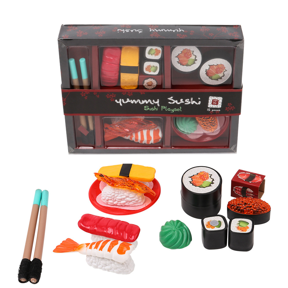 Kitchen Toys Tableware Girl Play House Simulation Sushi Model Pretend To Play Sushi Combination Mini Diy Food Toy