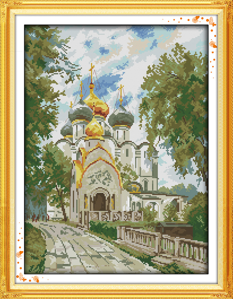 Joy Sunday The new convent DMC threads Chinese Cross Stitch Kits printed Cross stitch set Embroidery Needlework in Package from Home Garden