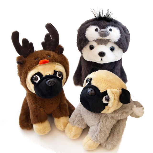 Plush Shar Pei Pug Dog Cosplay Reindeer Deer Husky Wear Clothes