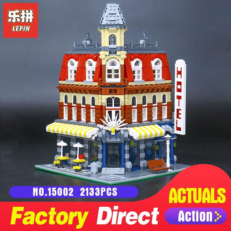 2133 pièces Lepin 15002 Blocs de construction Briques Kits Petit Coin Café bricolage LegoINGlys Jouet Éducatif Enfants Cadeau De Vacances 10182