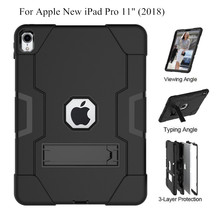 For iPad Pro 11 Case Rugged Shockproof Heavy Duty Hybrid 3 Layer Armor Defender Kids Proof Cover for Apple iPad Pro 11-inch+Film ntspace tablet hand strap case for apple ipad pro 12 9 inch 2017 2015 holder case heavy duty hybrid shockproof armor cover case