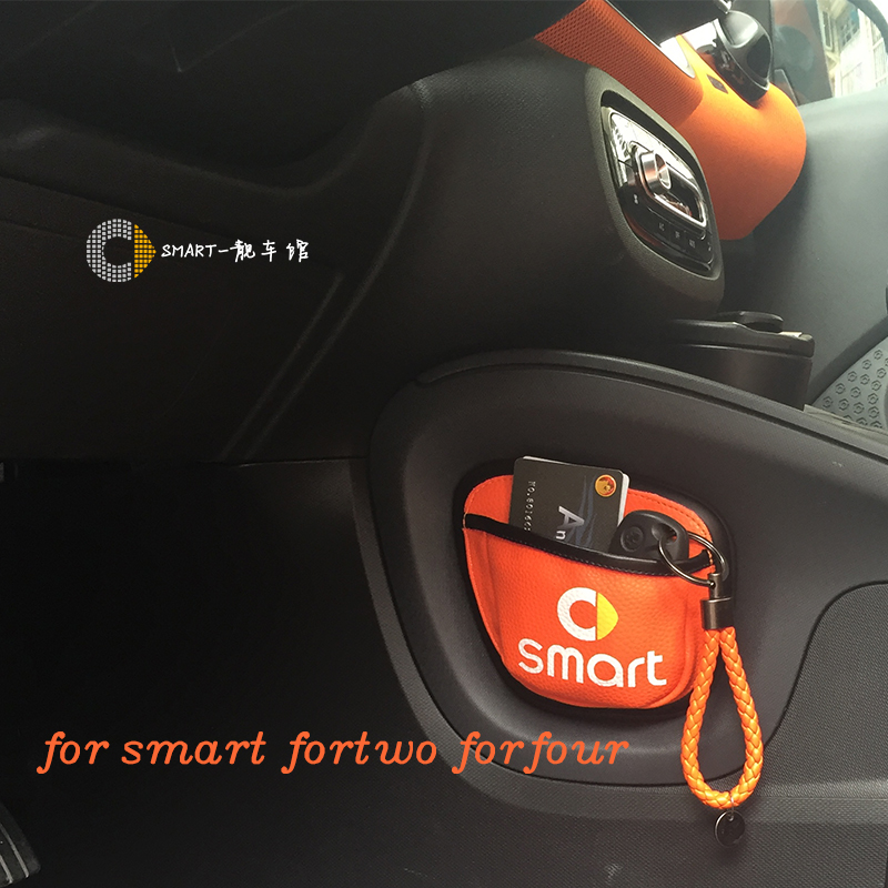 Image 2 - New Car storage Bag Car Mobile Phone Sundried Card Storage Bag Mesh for Smart 450 Smart 451 smart 453 Fortwo Forfour-in Stowing Tidying from Automobiles & Motorcycles