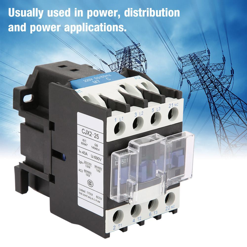 CJX2-2501 High Sensitivity AC Contactor Industrial Electric AC Contactor <font><b>220V</b></font> <font><b>25A</b></font> Contactor image