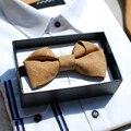 Nuevo Envío Libre de moda casual MASCULINA de Los Hombres de diseño importados de madera de madera Registro de reconstrucción pajarita wedding party regalo especial
