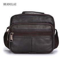 HUANILAI  Men Shoulder Bags Cross Section Genuine Leather Multifunction Crossbody For Cowhide Handbags TY016