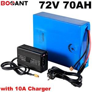 72 v 70ah da bateria de lítio para a bicicleta elétrica Scooter 72 v 5000 w 7000 w 9000 w bicicleta elétrica da bateria para LG 18650 carregador de celular + 10A