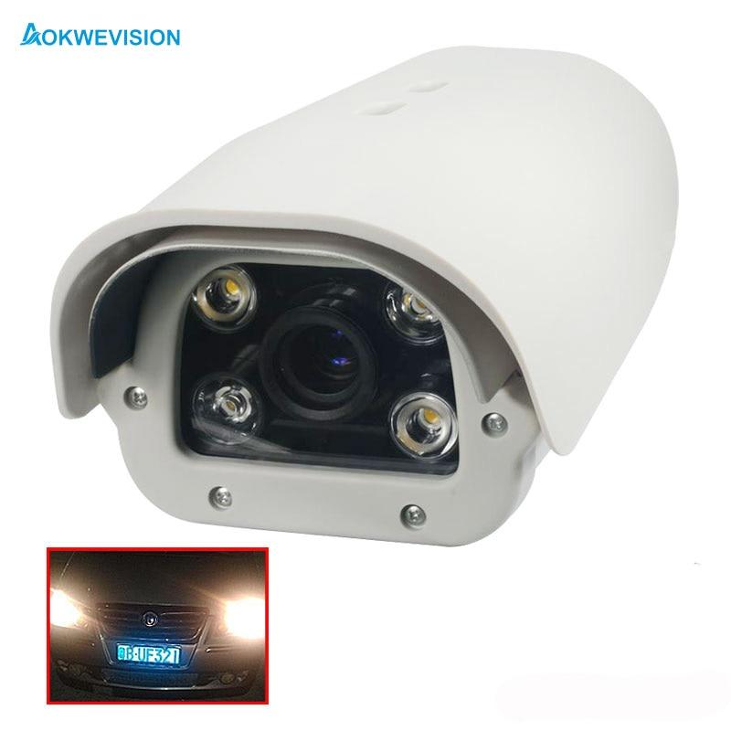 Onvif 1080P 2MP IR LED Vehicle License number Plate Recognition 5 50mm varifocal lens LPR IP