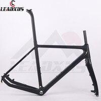 LEADXUS TXR01 T800 Carbon Fiber Cyclocross Bicycle Frame Carbon Cycle Cross Racing Bike Frame Fork Seat Post Headset 51/53/55cm