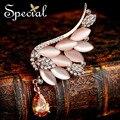 Especial novo luxo broches de penas anjo romântico Bouquet broche de casamento para vestidos para meninas mulheres frete grátis XZ141103