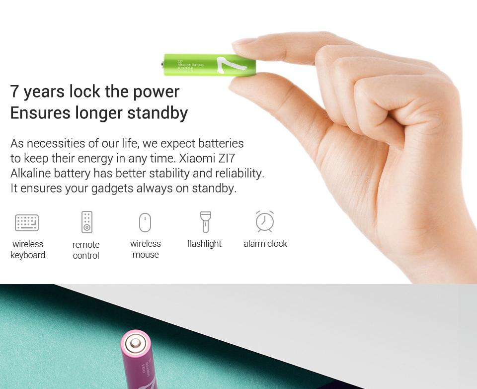 Xiaomi rainbow AAA battery