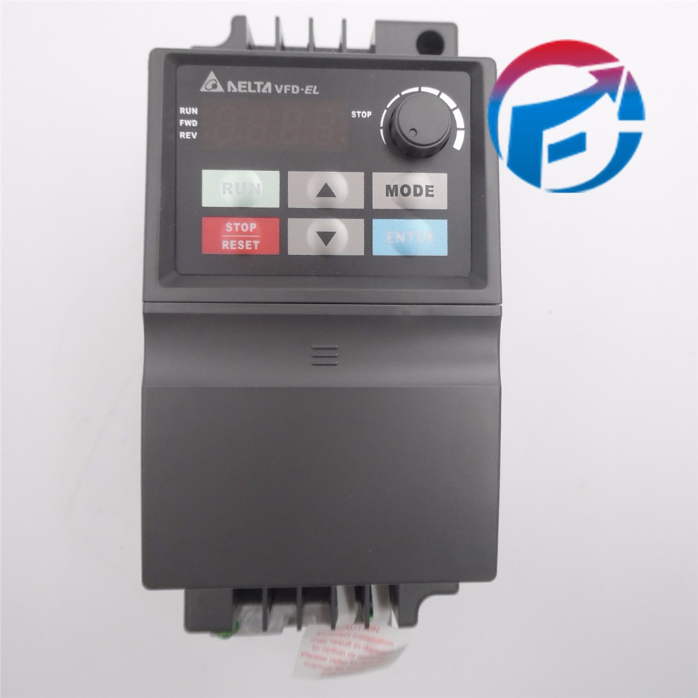 Delta Inverter VFD drive VFD007EL43A 3Phase 380V 0.75KW 1HP 0.1~600Hz Water pump &Packaging machine original new delta inverter vfd variable frequency drive 3phase 380v 5 5kw 7 5hp 0 1 600hz vfd055e43a grinding