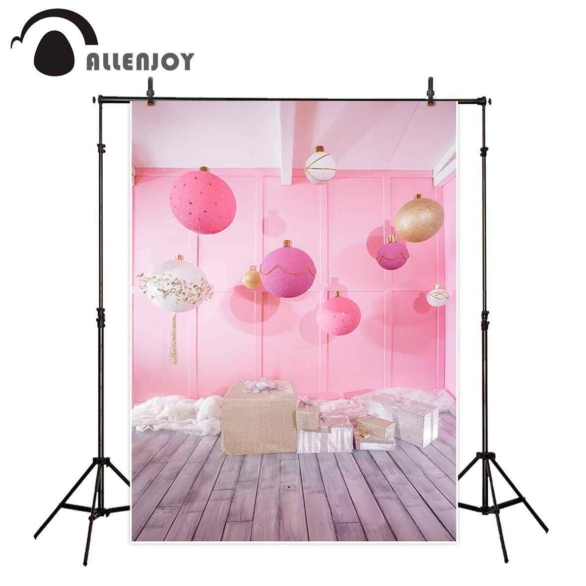 Allenjoy birthday wedding Valentine party photography backdrop colourful balloons floor indoor personal custom photo background love photography backdrop scenery custom photo portrait studios background valentine s day backdrop f 2908