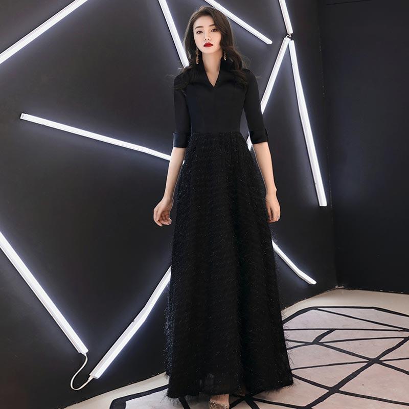 FADISTEE 2019 New Arrival Elegant Evening Prom Dress Vestido De Festa Dress Long Style Party Dresses High V-neck Half Sleeves