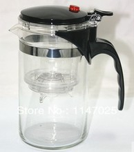 500ml Glass single press teapot with filter straight shape glass cup,easy to use Free Shipping