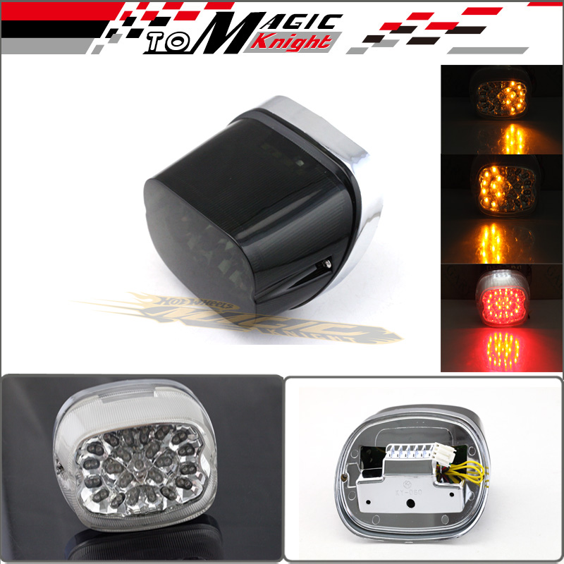 Smoke Lens Motorcycle flashers Integrated LED Tail Light Brake Turn Signals Blinker For Harley Davidson aftermarket free shipping motorcycle parts led tail brake light turn signals for honda 2000 2001 2002 2006 rc51 rvt1000r smoke