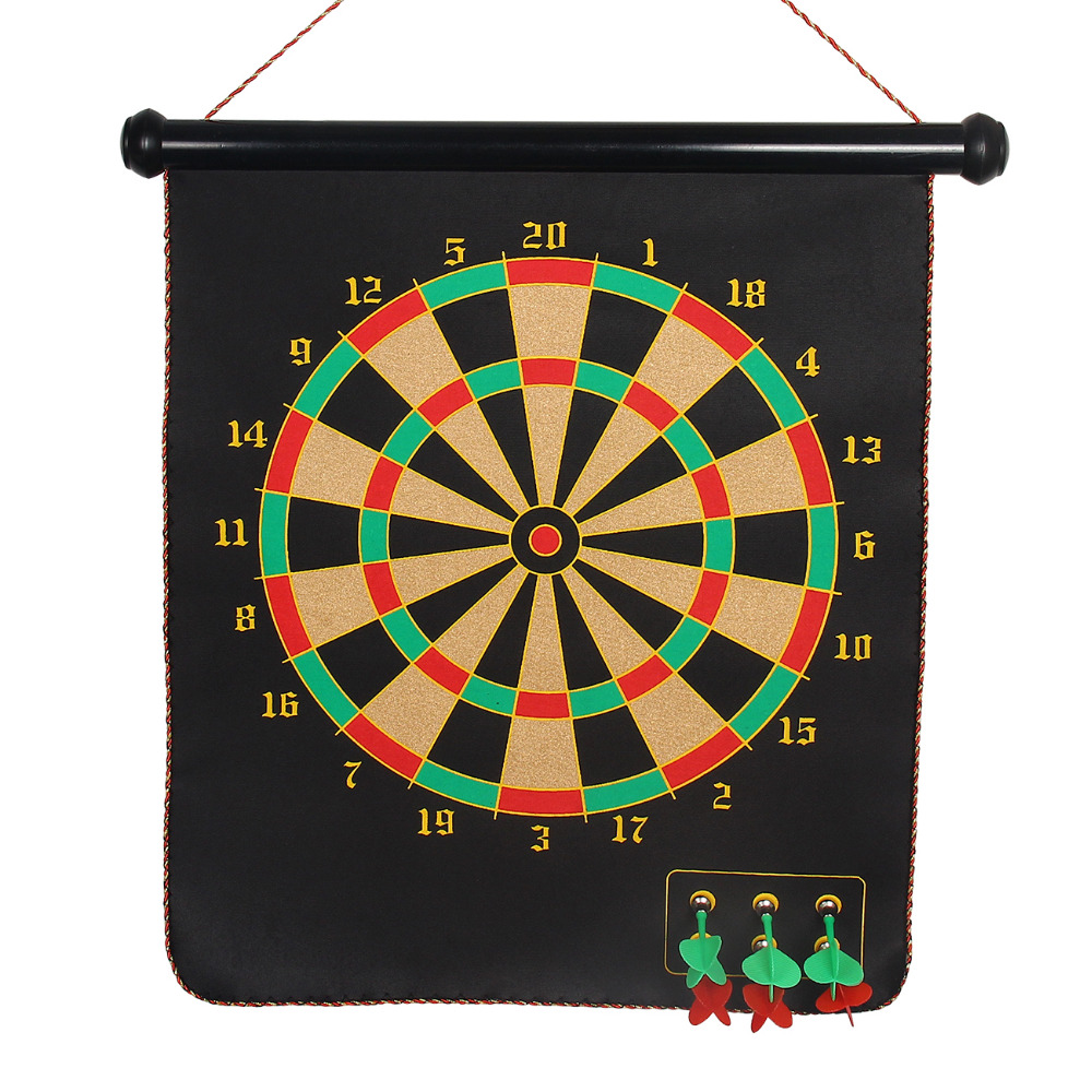 New Indoor Sport Dart Board Magnetic Dartboard Set With 6 Darts 12/15/17 inch Multi color Target Toy