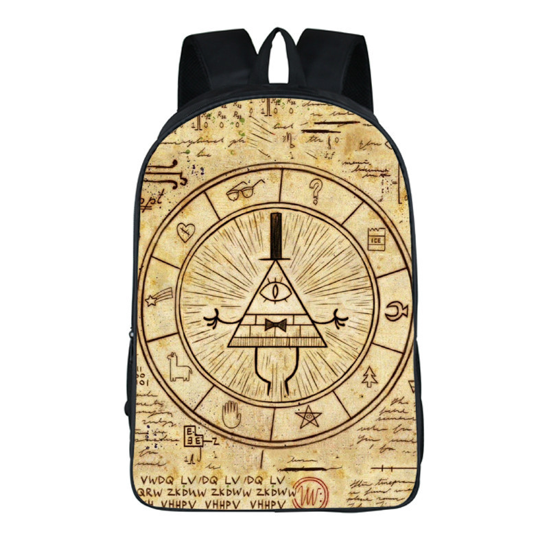 anime Gravity Falls Cartoon School Bags boys Girls Bag Backpacks Kindergarten Book Bag Schoolbags Mochila Escolar 14 style