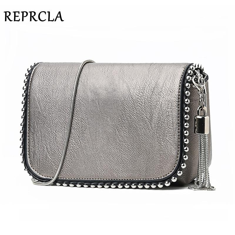 REPRCLA New Brand Women Shoulder Bag Small Crossbody Messenger Bags Chain Luxury Handbag Ladies Purse With Tassel