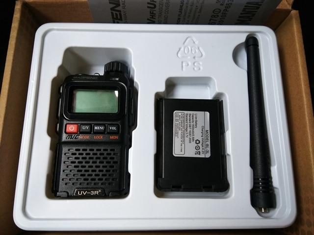 2pcs Baofeng UV 3R 플러스 워키 토키 듀얼 밴드 양방향 라디오 HF 송수신기 uv 3r 핸디 햄 라디오 사냥 Pofung UV3R +
