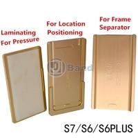 Pantalla LCD Marco Medio de Posicionamiento Separador OCA laminación De Aluminio Molde para Samsung S6 Borde Borde borde más S7 S6 Nota 4 borde