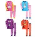 Оптовая горячие марка мальчики девочки зима комплект одежды bebe детские одежда новорожденного наряд органического хлопка пижамы одежды костюмы