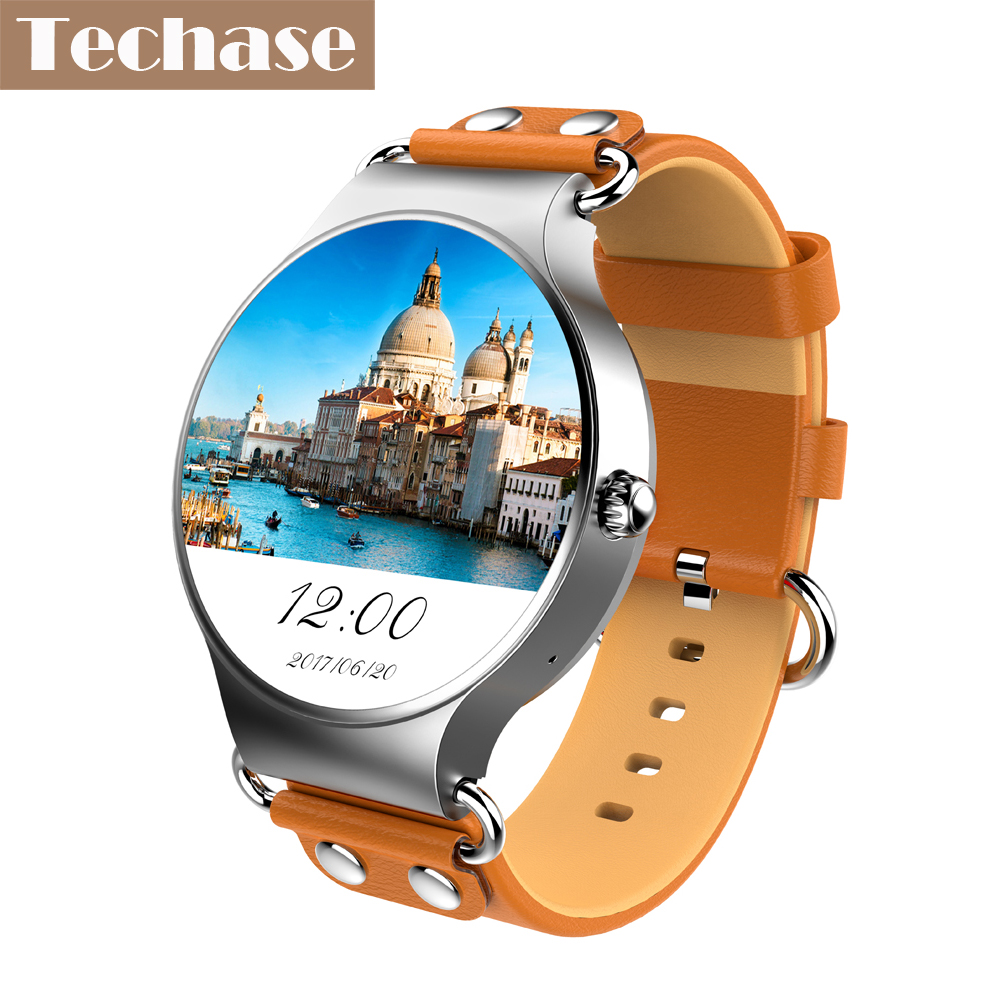 Techase New Arrival KW98 Android 5 1 OS Smartwatch 3G 2G WiFi SIM GPS Tracker Support