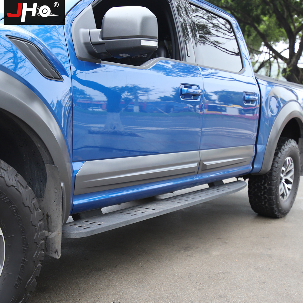 Image 2 - JHO Truck Door Anti scratch Panel Cover Trim For 4 Door Ford F150 2017 2019 Raptor 2018 Pickup Styling Protective AccessoriesStyling Mouldings   -