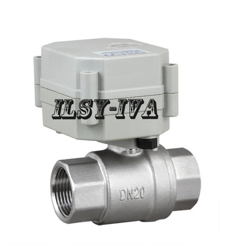 ФОТО DN20 Stainless Steel electric ball valve,AC5V 2 way Motorized  Valve