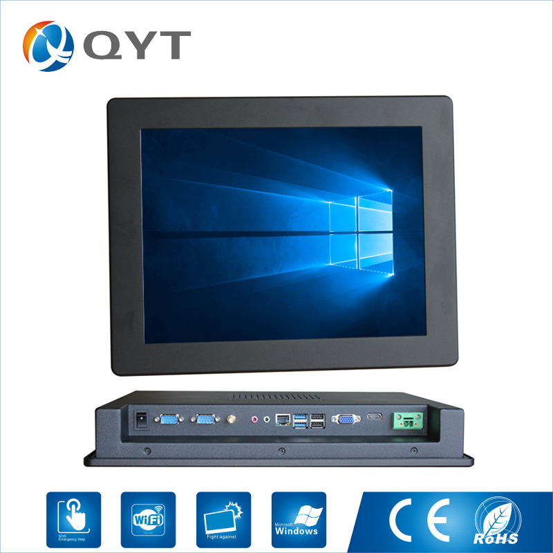 15 inch Fanless Mini Industrial panel PC touch screen support windows 7 / windows10 system15 inch Fanless Mini Industrial panel PC touch screen support windows 7 / windows10 system