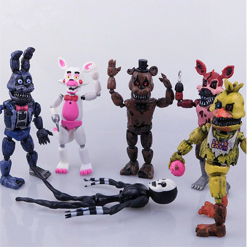 Hot Sell Five Night At Freddy Anime Fnaf Bear Free Assembly Action Figure Pvc Model Freddy Toys For Children