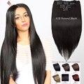 """16 """"-28"""" 100g 26 colores disponibles Clip En conjunto cabeza llena de Cabello Humano remy Virginal Brasileño extensiones de cabello humano clips en/en"""