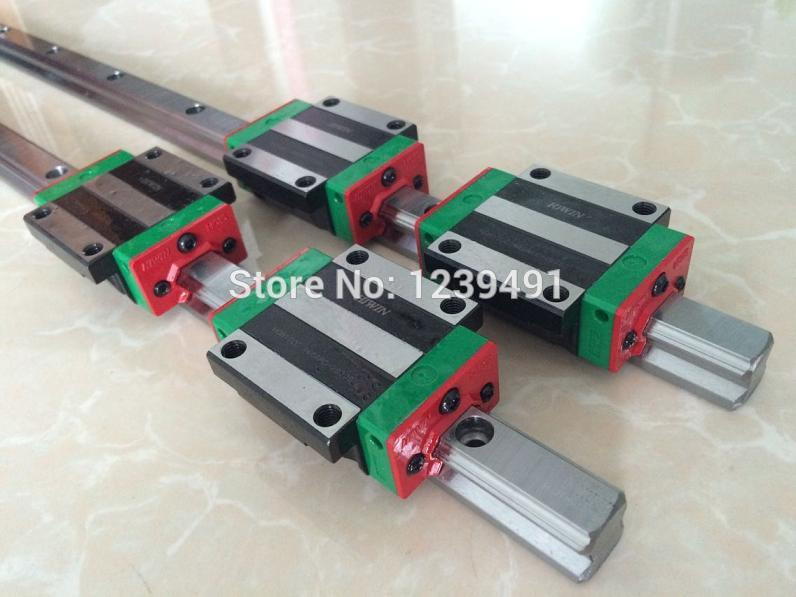 2pcs original HIWIN  linear rail HGR25- 700mm  with 4pcs HGW25CA flange block CNC Parts  2pcs original hiwin linear rail hgr25 550mm with 4pcs hgw25ca flange block cnc parts