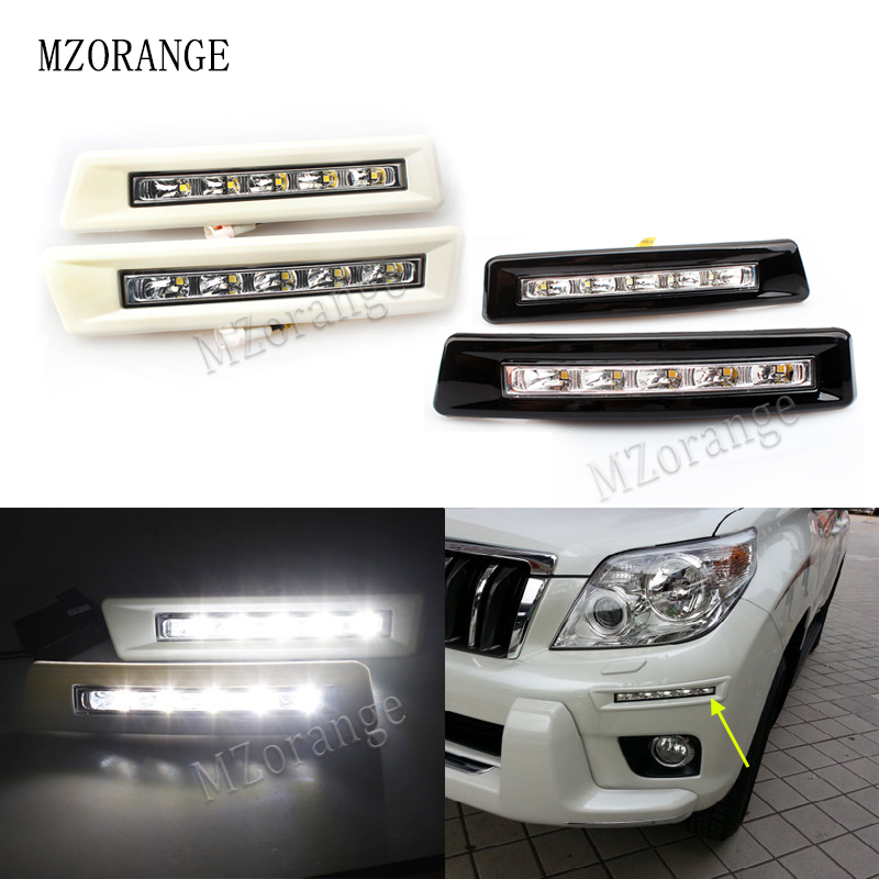 MZORANGE 12v DRL Daytime Running Light Day Light For Toyota Prado FJ150 LC150 2010 2011 2012