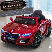 Детская дистанционное управление Электрический ездить на автомобиль четыре колеса мягкое сиденье двойной привод игрушка детская коляска 6