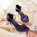 Продавать, как горячие пирожки летом фиолетовый туфли на высоком каблуке женщин сандалии размер 30-43