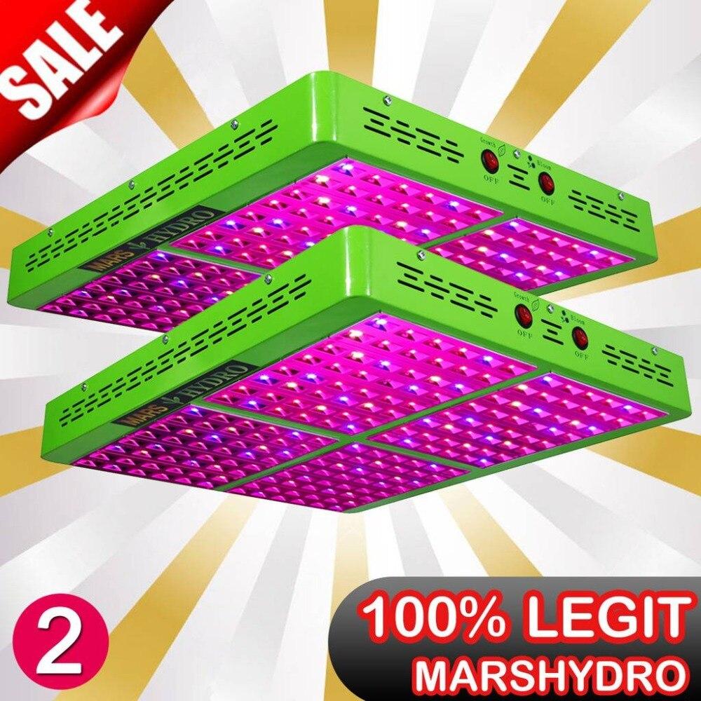 2 PCS MarsHydro Riflettore 960 W LED Luci a intensità Spettro Completo Crescita Bloom Interruttori IR per crescere le piante d'appartamento