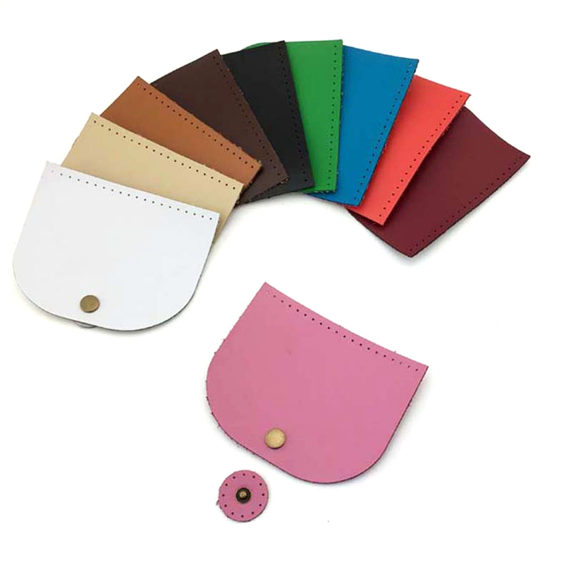 5pcs 10x12cm Bag Flip Cover PU Leather Replacement Handmade DIY Shoulder Handbag SEWING Flap Cover With Lock Accessories KZ0095