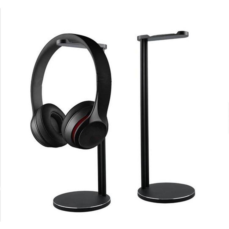 цена на Aluminum Headphones Stand Rack, Modern Fashion Headset Holder Earphone Bracket Hanger for All Sizes Gaming and Audio Headphone