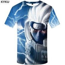 KYKU Naruto T Shirt Men Anime Tshirt Hip Hop Tee Streetwear Punk Rock Clothes Blue 3d T-shirt Casual Cool Mens Clothing 2018 New